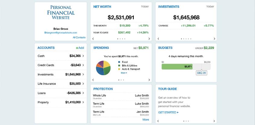 Personal Financial Website